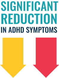 Significant reduction in ADHD symptom